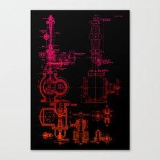 Steam pipe Canvas Print