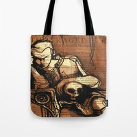 denmark Tote Bags featuring Hamlet Prince of Denmark by Immortal Longings