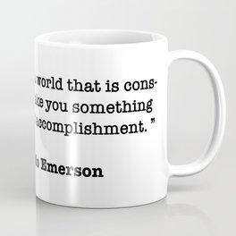 Ralph Waldo Emerson Quote Coffee Mug