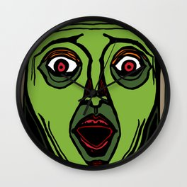 Fright Face Wall Clock