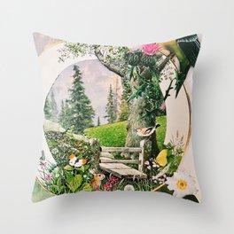 Garden Portal I Throw Pillow