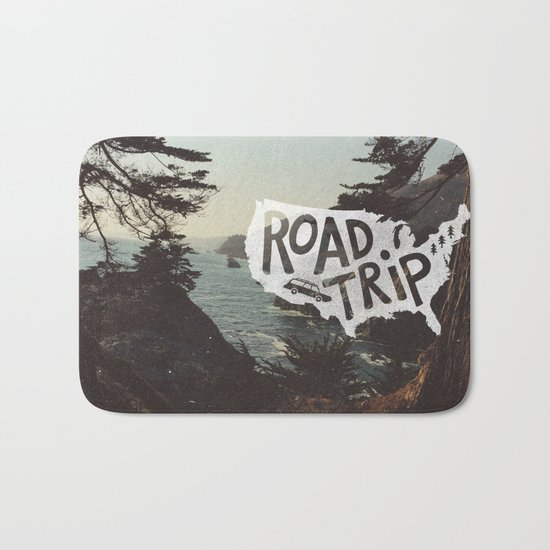 Road Trip USA - big sur Bath Mat