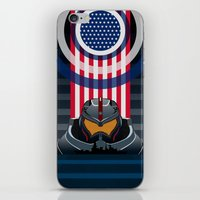 pacific rim iPhone & iPod Skins featuring Pacific Rim v2 by milanova