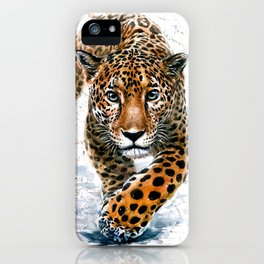 Leopard Wild and Free iPhone Case