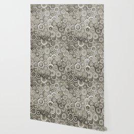 Grey Circle Art Wallpaper