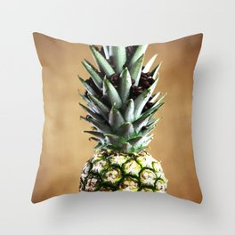 Coffee picture with pineapple Throw Pillow