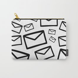 Black&white envelopes everywhere Carry-All Pouch