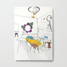 Room After Calder Metal Print