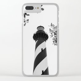Cape Hatteras Black and White Clear iPhone Case