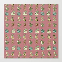Grass Starters Pattern Canvas Print
