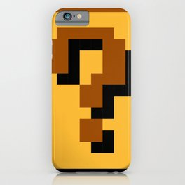 Super Mario question mark block iPhone Case