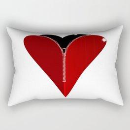 Zipper Heart Rectangular Pillow