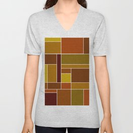 Abstract #488 Unisex V-Neck
