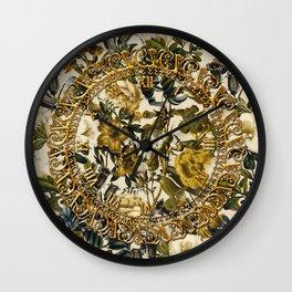 Warm Winter Garden Wall Clock