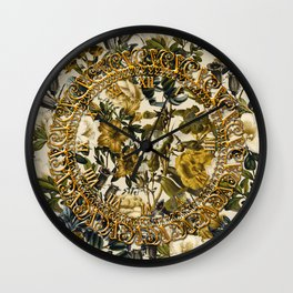 Warm Winter Garden Wall Clock