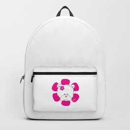 Flowery teddy icon 1 Backpack