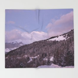 Purple Moutain Mont Blanc Throw Blanket