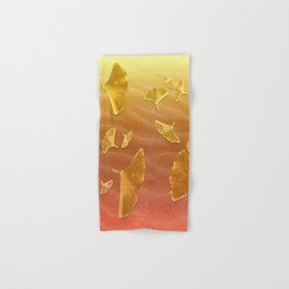 Golden Ginko Hand & Bath Towel