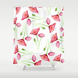 Poppy pattern Shower Curtain