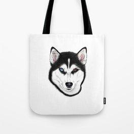 Husky different eyes Tote Bag