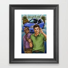 Psyched Framed Art Print