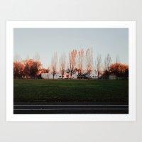 Autumn Track Art Print