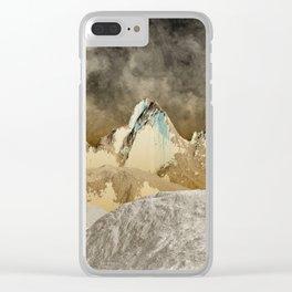 Lunar Landscape Clear iPhone Case