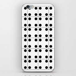 Geometric Pattern #70 (domino) iPhone Skin