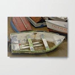 Sandy Spanish Row Boat  Metal Print