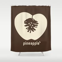 pineapple Shower Curtains featuring pineapple by 7115