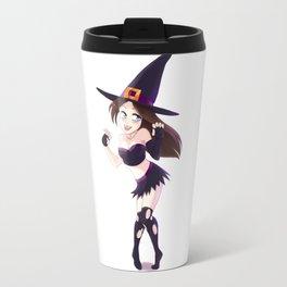 Manga Witch Girl Travel Mug