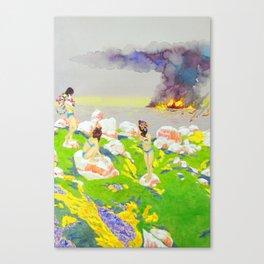 Flower Girls Canvas Print