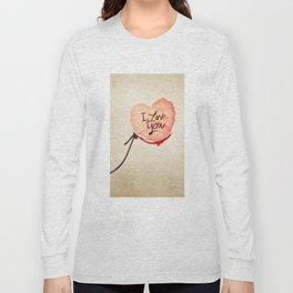 Love heart Message Long Sleeve T-shirt