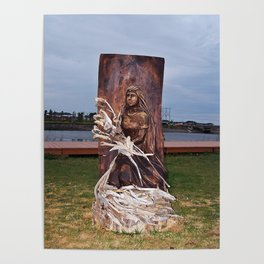 Driftwood Flower Lady Poster