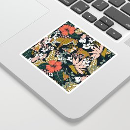Animal print dark jungle Sticker