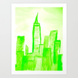 Green with Empire Art Print