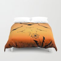 freedom Duvet Covers featuring Freedom by Cs025