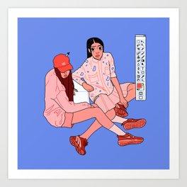 Colour pick Art Print