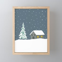 Silent night Framed Mini Art Print