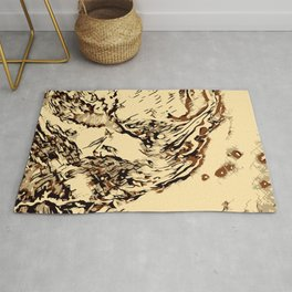 Wooden Marble Rug