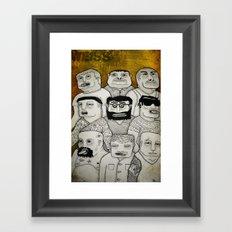 Los cabeza de cubo Framed Art Print