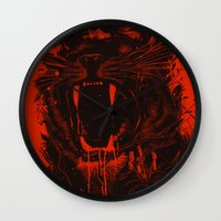king Wall Clocks featuring The King by nicebleed