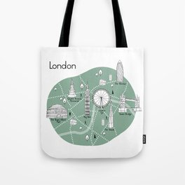 Mapping London - Green Tote Bag