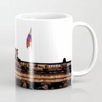 colombia Mugs featuring Plaza Of Bolivar, Colombia. by Alejandra Triana Muñoz (Alejandra Sweet