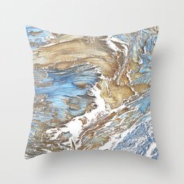 Woody Silver Throw Pillow