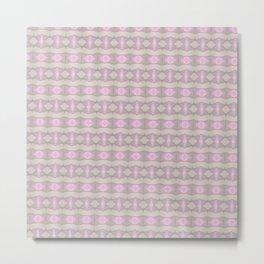Horizontal geometic stripes - violet Metal Print