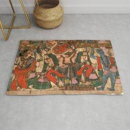 Hindu Krishna Ganesh Tapestry Rug