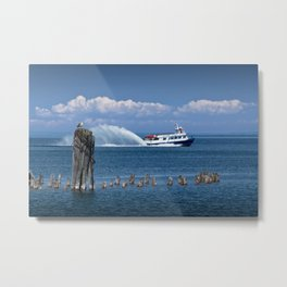 Star Line Ferry Boat going from St. Ignace to Mackinac Island Metal Print