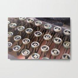 Antique typewriter keys Metal Print