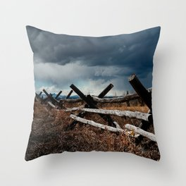 Storm & Fence Throw Pillow